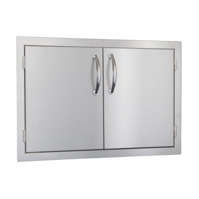 "30"" double access door outdoor kitchen"