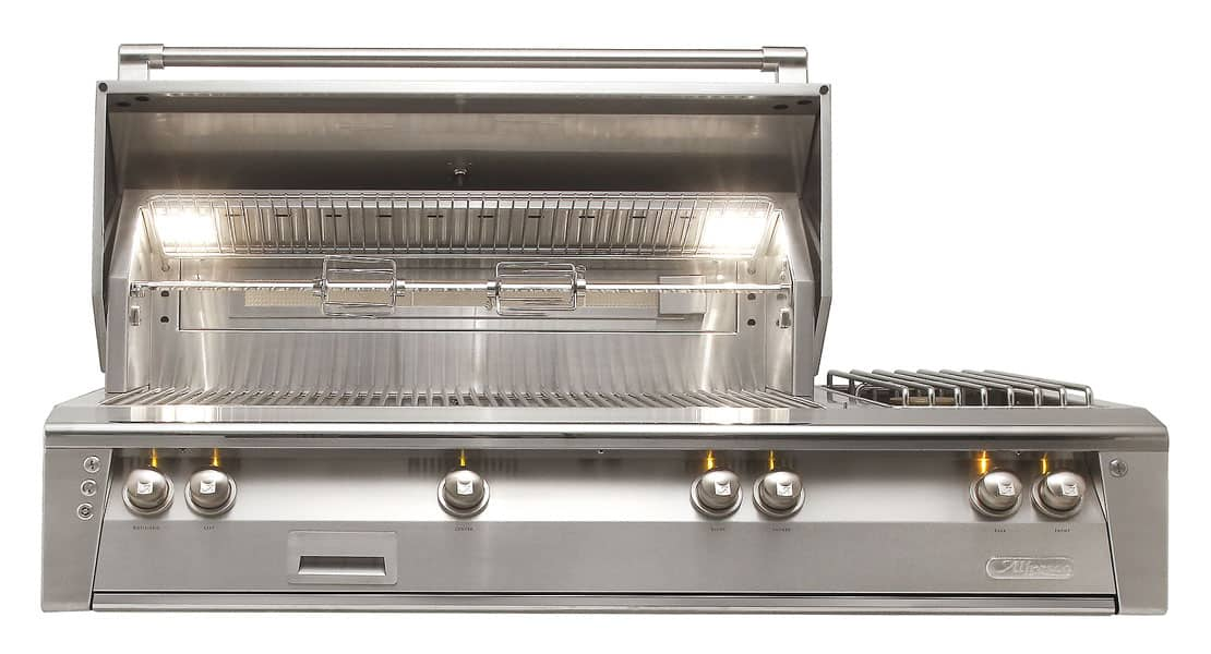 Alfresco-56-Inch-built-in-outdoor-stainless-steel-grill-side-burner