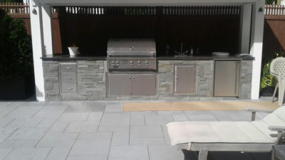 outdoor modular kichen, stone outdoor kitchen cabinets, outdoor living, alturi stainless steel grill