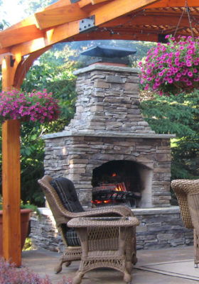 outdoor fire place kit, outdoor fire feature