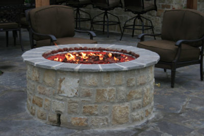 outdoor firepit, outdoor fire pit, outdoor fire feature