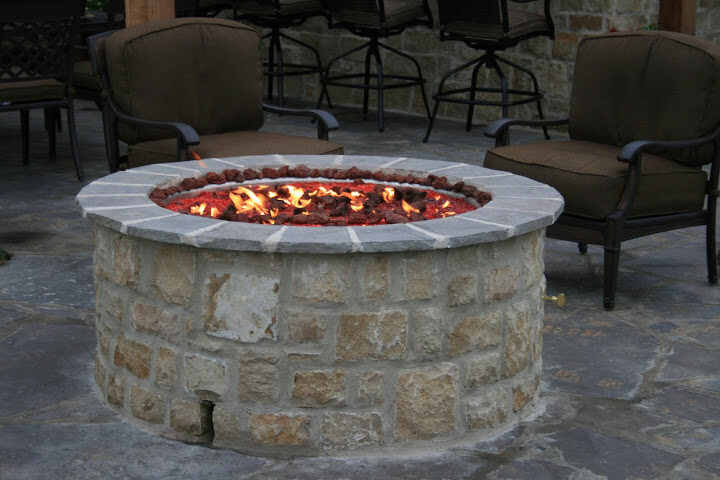 Outdoor Fire Pit Kit - Tall Round Fire Pit for Outdoor ...