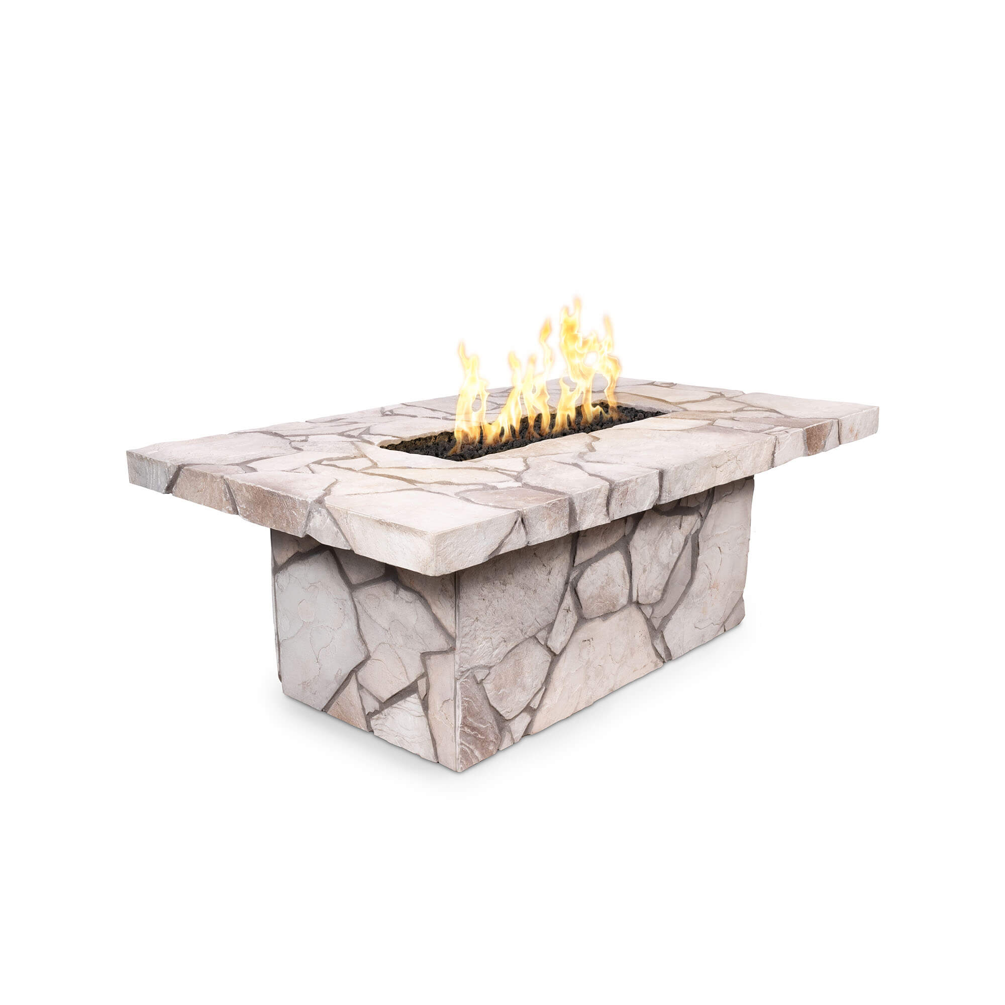 rectangle table top finished fire pit