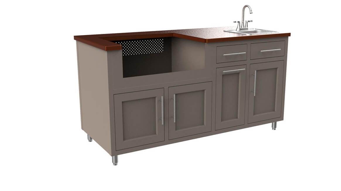 Outdoor-Aluminum-Kitchen-Cabinet-Custom-Layout-67.25 GWS