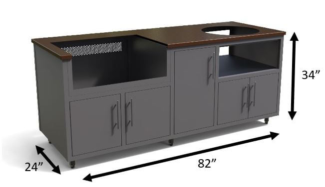 aluminum outdoor kitchen cabinets