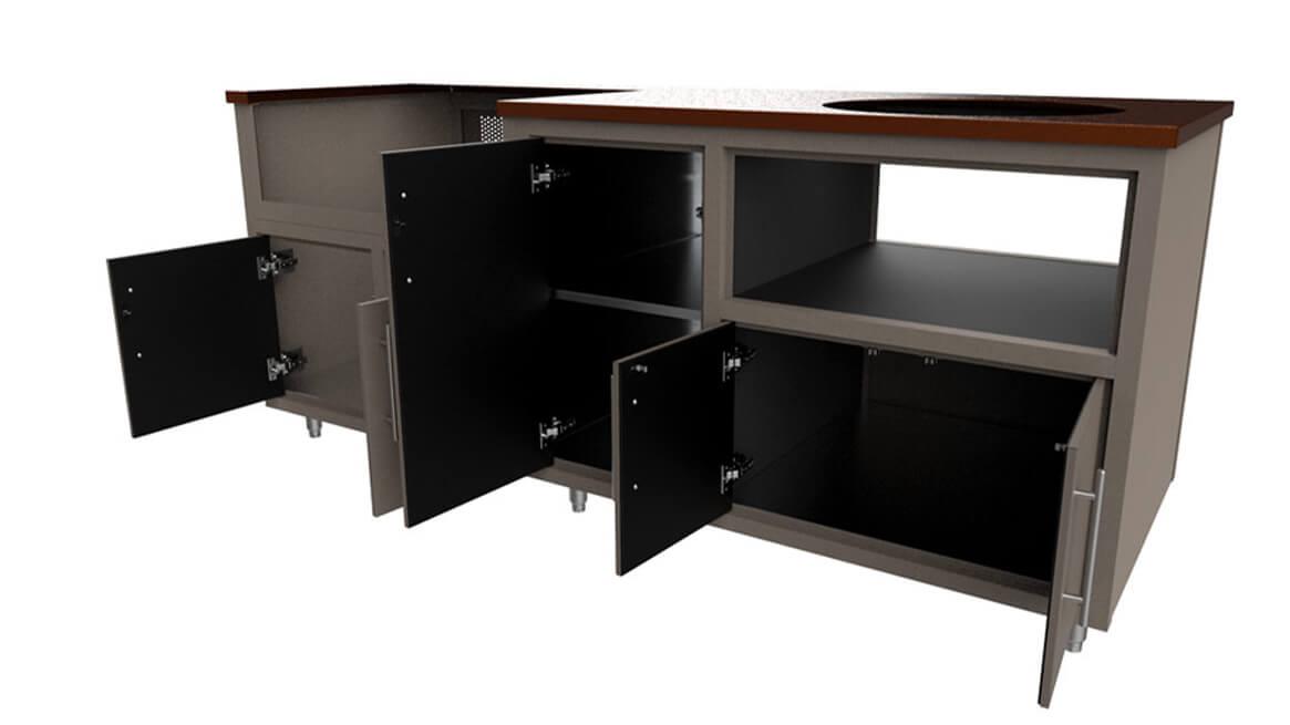 Outdoor-Aluminum-Kitchen-Cabinet-Custom-Layout-83-gdk-open drawers