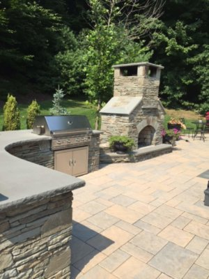 outdoor living, outdoor fireplace kit, outdoor kitchen, stainless steel grill