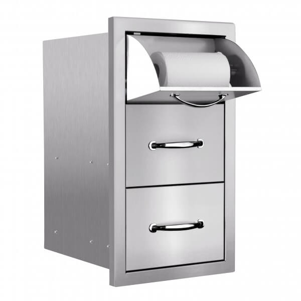 SSTDC-2-drawer-paper-towel-holder-sunfire-outdoor-kitchen-accessories