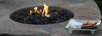 gas burning firepit in a boulder, gas burning fire pit in a boulder, fireboulder