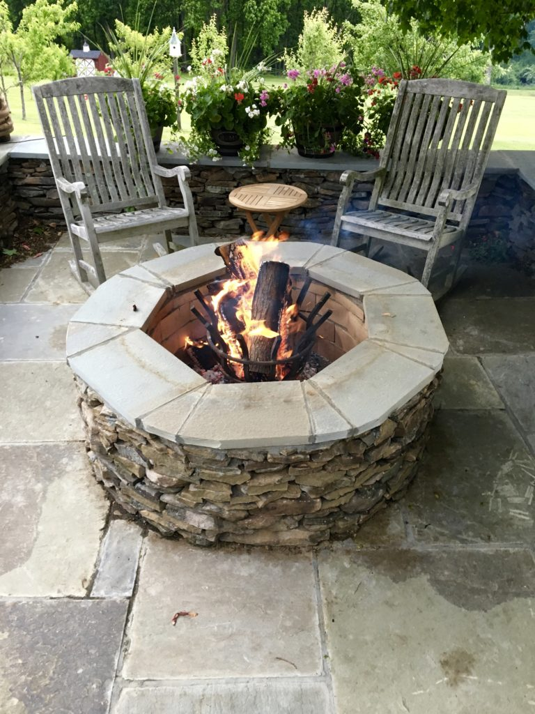 Large Round Outdoor Fire Pit Kit Centerpiece For Outdoor