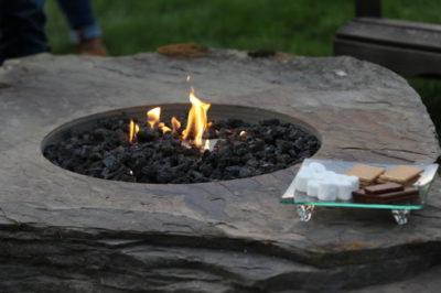 gas burning fire pit, firepit