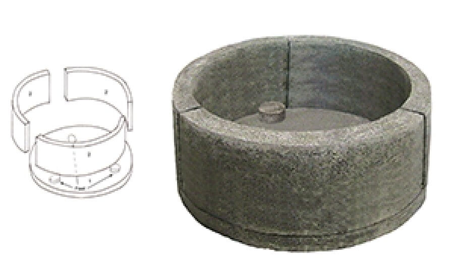 outdoor firepit kit, outdoor fire pit kit, tall round outdoor firepit kit, tall round fire pit kit