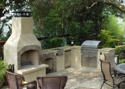 outdoor fireplace kit, outdoor fire feature, modular outdoor kitchen, stainless steel grill, outdoor kitchen, outdoor kitchen cabinets