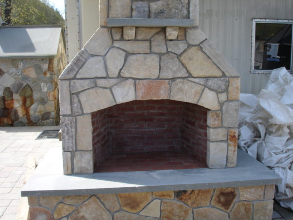 Outdoor Fireplace Kit Fire Feature Living