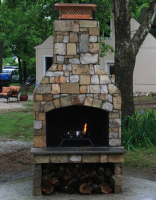 outdoor fireplace kit, outdoor fire feature, outdoor fireplace, outdoor living
