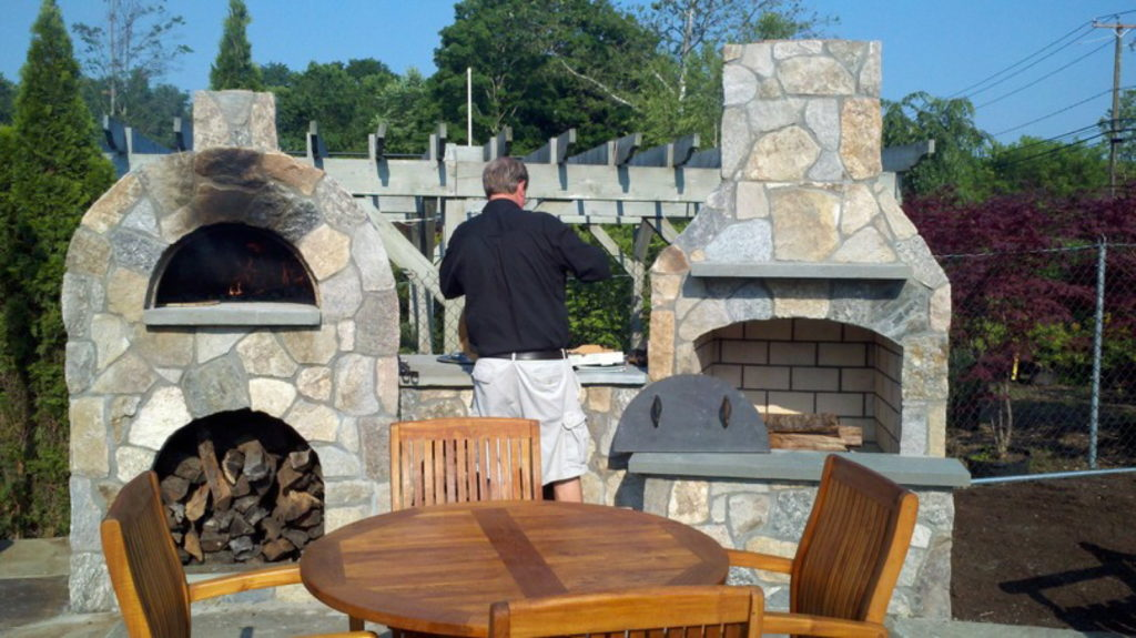 Outdoor Pizza Oven Kit Fire Feature
