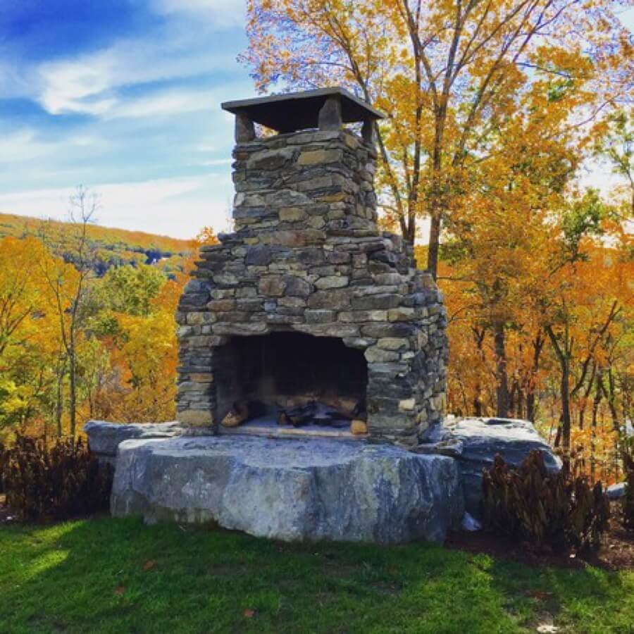 Outdoor Fireplace Kit Masonry Stone