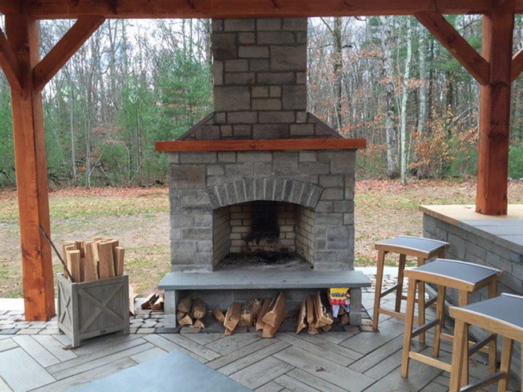 Outdoor Fireplace Kit Ct Connecticut Fire Feature