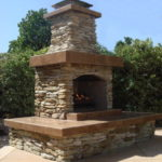 outdoor fireplace kit, outdoor fireplace, outdoor fire feature, outdoor living space