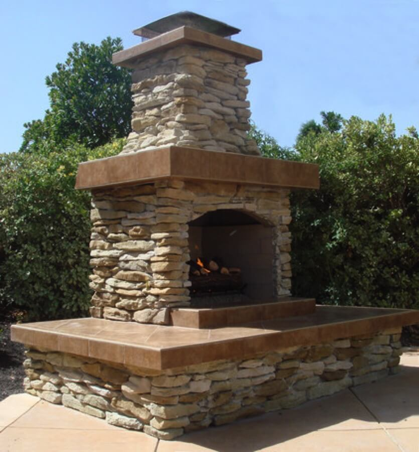 Outdoor Fireplace Kit Fire Feature Living E