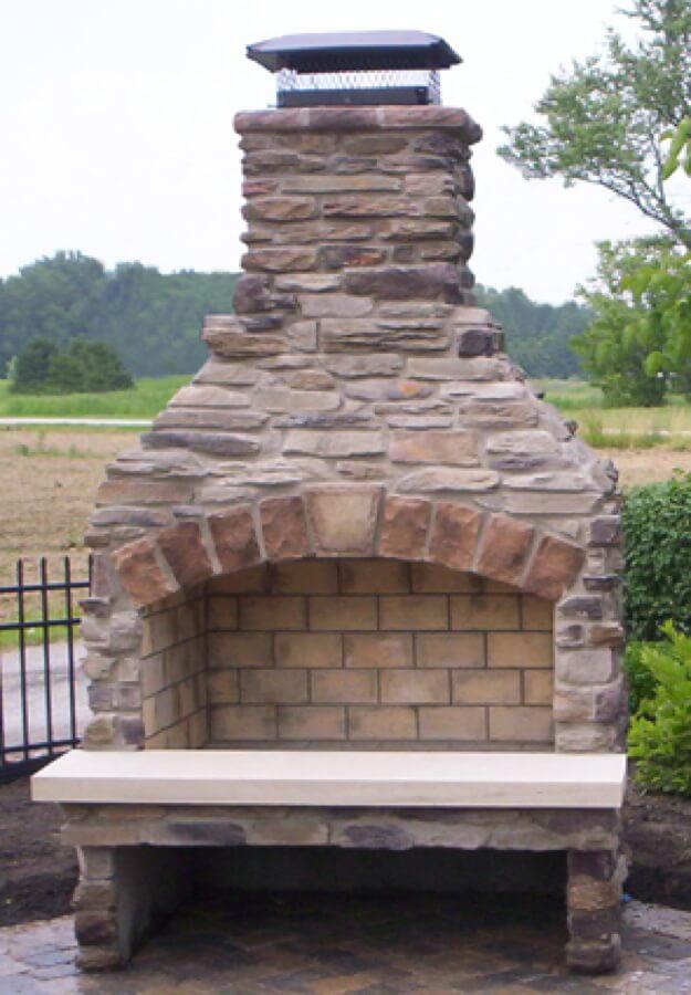 Outdoor Fireplace Kit Masonry Outdoor Fireplace Stone Outdoor