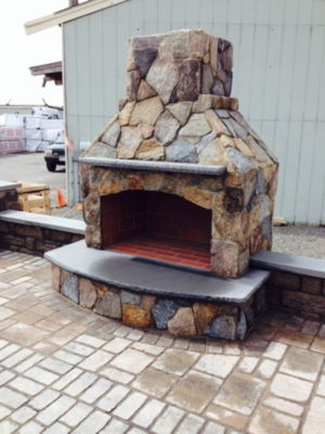 outdoor fireplace kit, outdoor fireplace, outdoor fire feature
