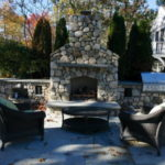 outdoor living, stainless steel grill, outdoor fireplace kit, outdoor fire feature