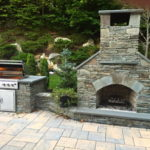 outdoor fireplace kit, outdoor kitchen, stainless steel grill