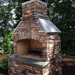outdoor fireplace kit, outdoor living, outdoor entertaining