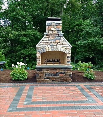 outdoor fireplace kit, outdoor fireplace