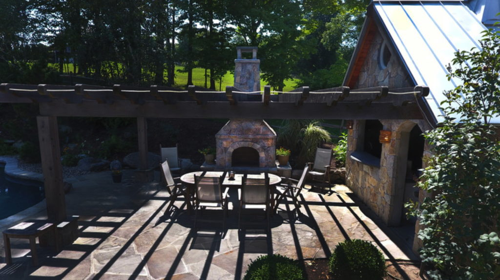 Outdoor Fireplace Living Space Ct Connecticut