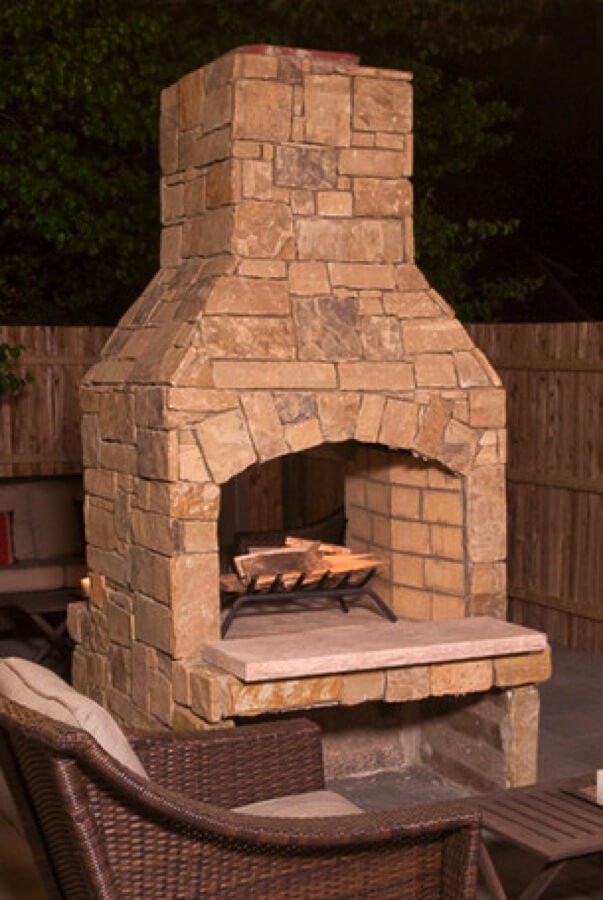 Outdoor Fireplace Kit Masonry Outdoor Fireplace Stone Outdoor