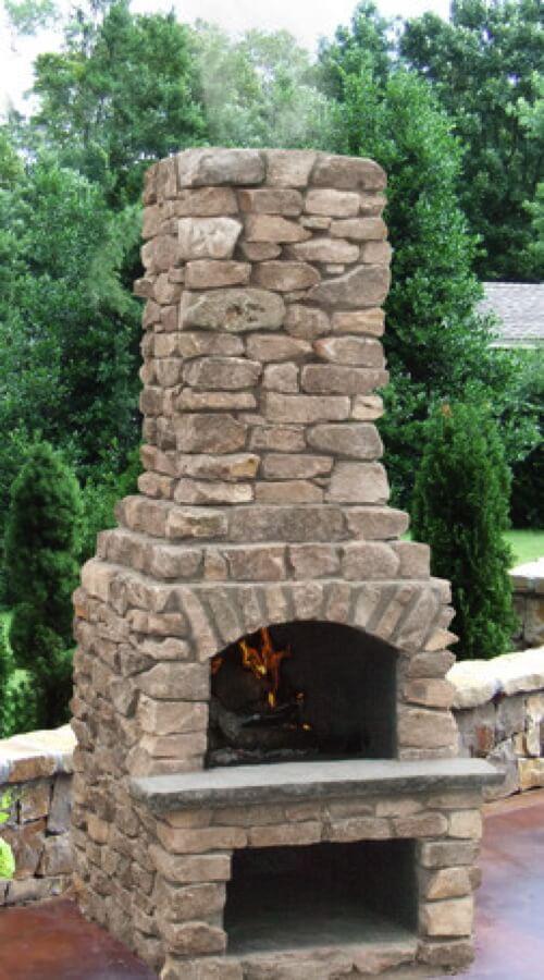 Outdoor Fireplace Kits Masonry Fireplaces Easy