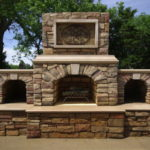 outdoor fireplace kit, outdoor wood storage box, outdoor fire feature