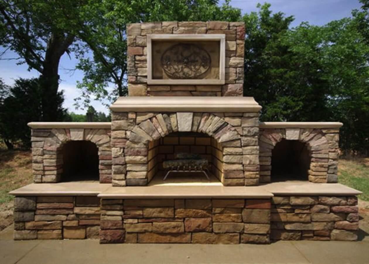 Outdoor Fireplace Kits Masonry Fireplace Stone Fireplace