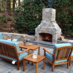 outdoor fireplace kit, outdoor fire feature, outdoor fireplace