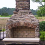 outdoor fireplace kit, outdoor fire feature