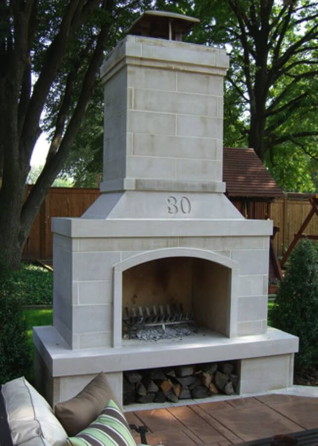 Outdoor Fireplace Kit Fire Feature