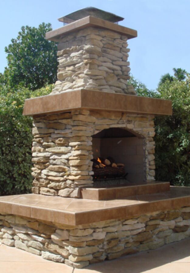 Outdoor Fireplace Kit, Masonry Outdoor Fireplace, Stone ...