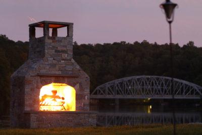 outdoor fireplace kit, outdoor fireplace kit ct, outdoor fireplace kit Connecticut, outdoor fire feature