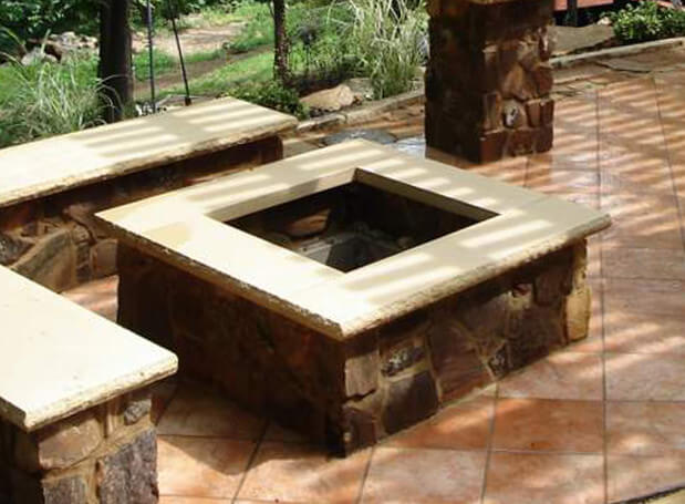 Square Outdoor Fire Pit Kit