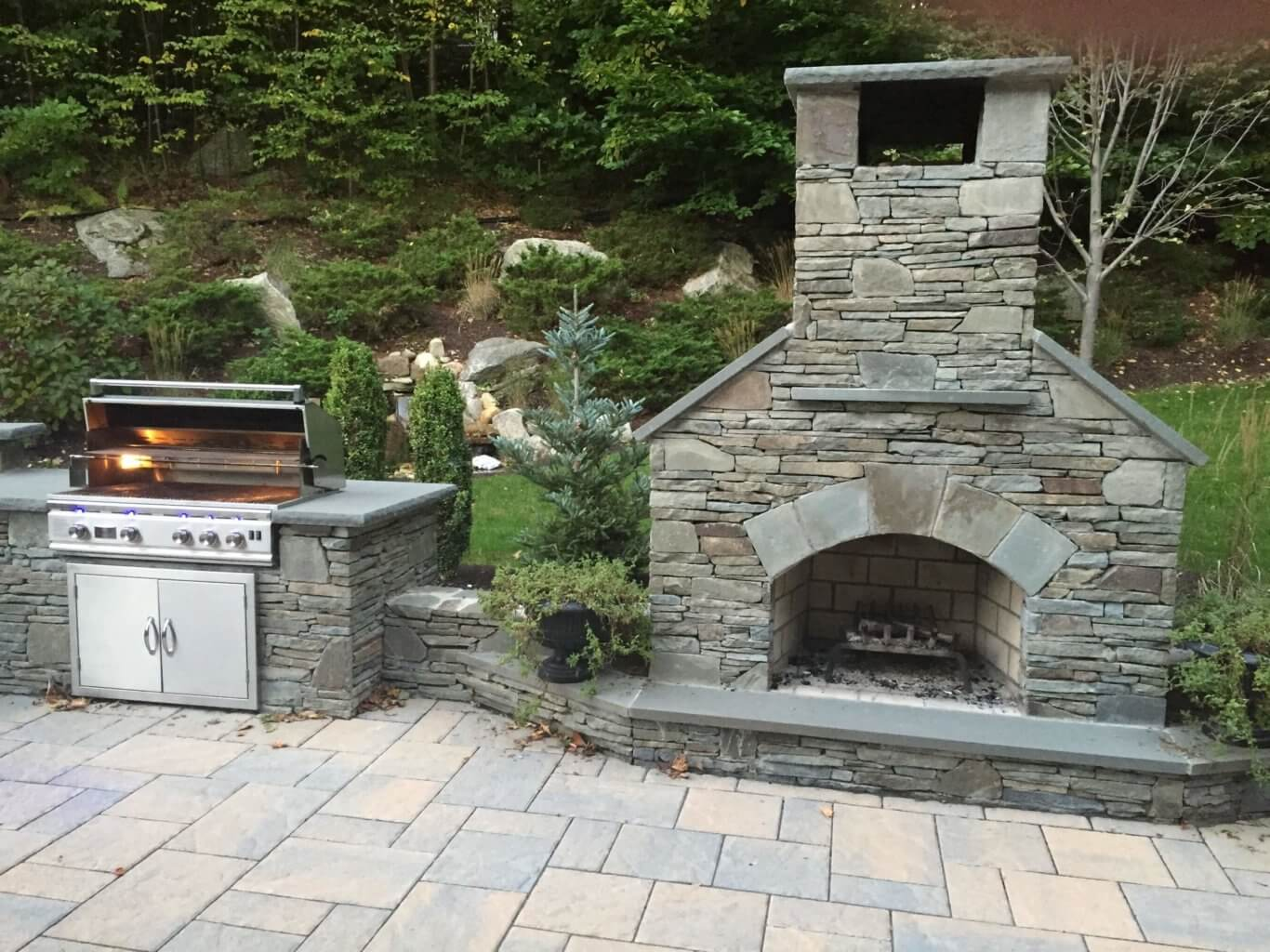Outdoor Fireplace Kit - Contractor Series - for Easy ...