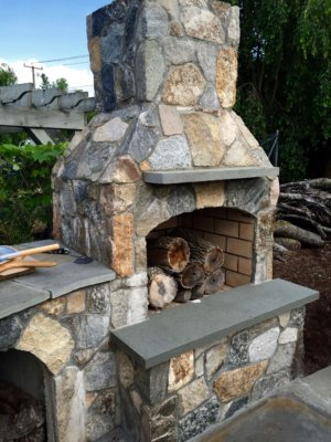 outdoor fireplace kit, outdoor fire feature, masonry fireplace kit, masonry fireplace
