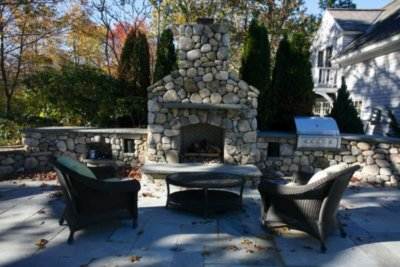 outdoor fireplace, outdoor fireplace kit, outdoor living space, outdoor fire feature