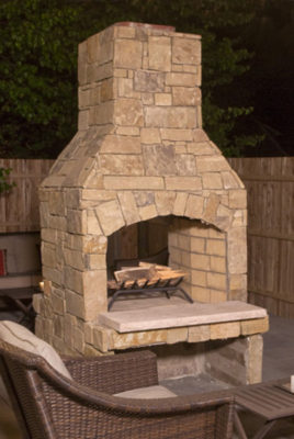 wood burning outdoor fireplace, outdoor fire pit, outdoor firepit