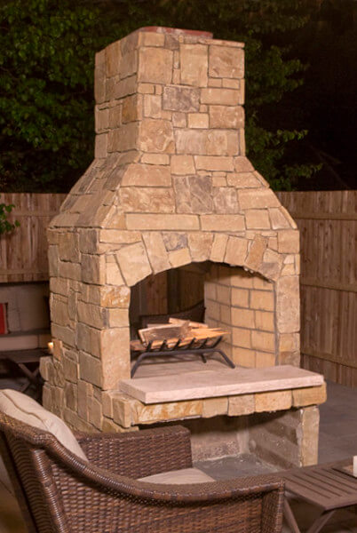 Outdoor Fireplace Kit Standard Series For Easy