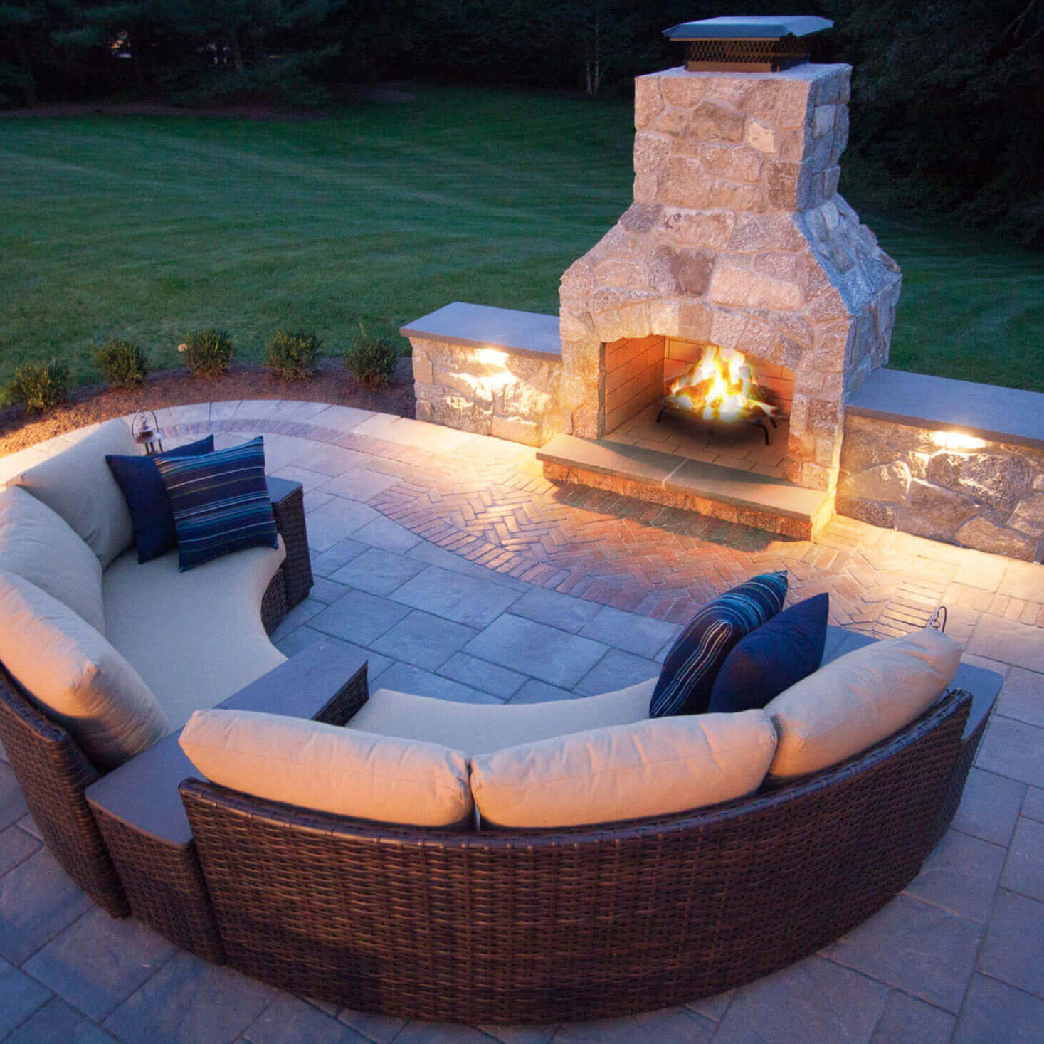 Stone Age Fireplace with seating