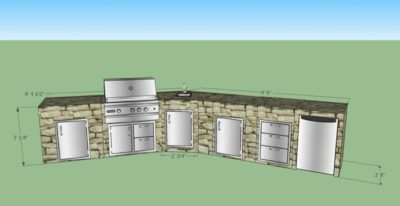 outdoor modular kitchen, outdoor kitchen cabinets, stainless steel grills, stainless steel accessories