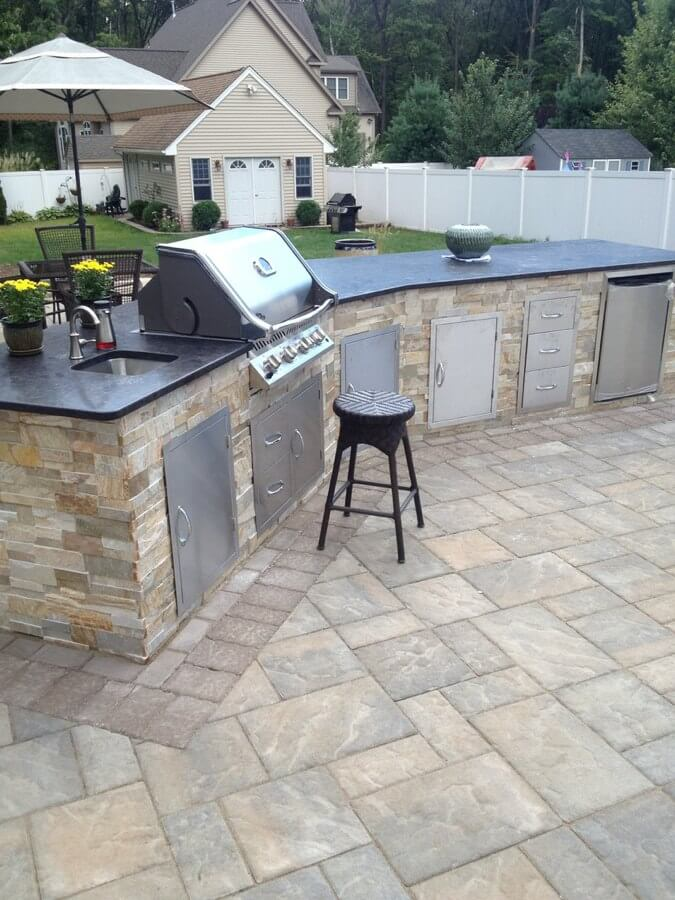 outdoor modular kichen, stone outdoor kitchen cabinets